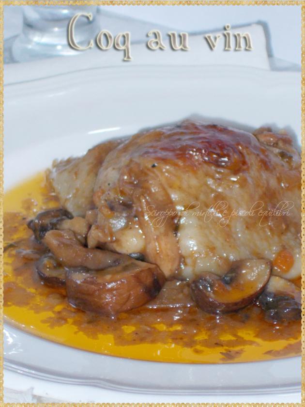 Pollo al vino con funghi alla francese