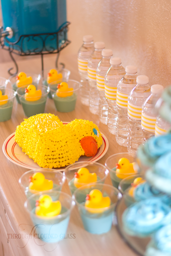 Rubber Duck Birthday Party Through Clouded Glass