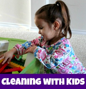 cleaning with kids