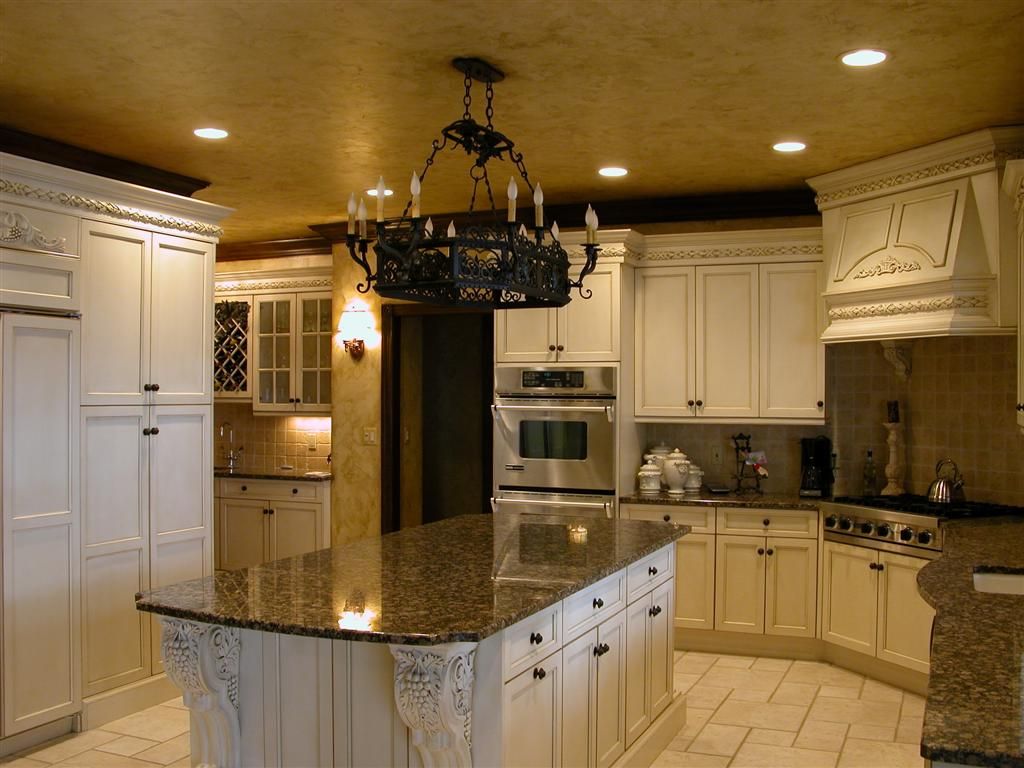 Home interior design decor tuscan style kitchens for Decorative kitchens