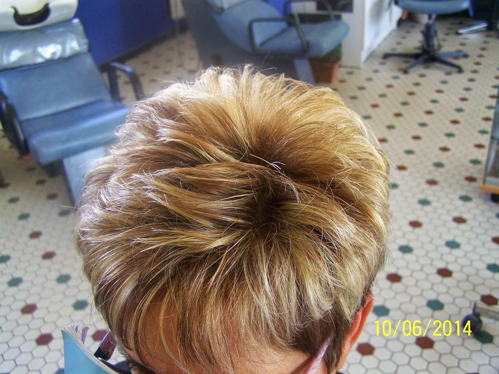 BENEDICTE COIFFURE MIXTE Coupe Dame Sur Cheveux Court  Coloru00e9s Et Mu00e8chu00e9s
