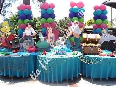 The little mermaid children parties decoration for Ariel party decoration ideas