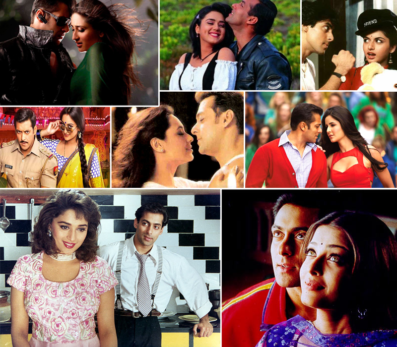 Which Actress looking best with Salman khan