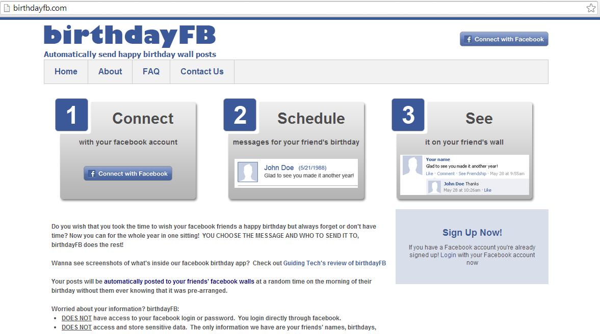 Go To Birthday Fb Website