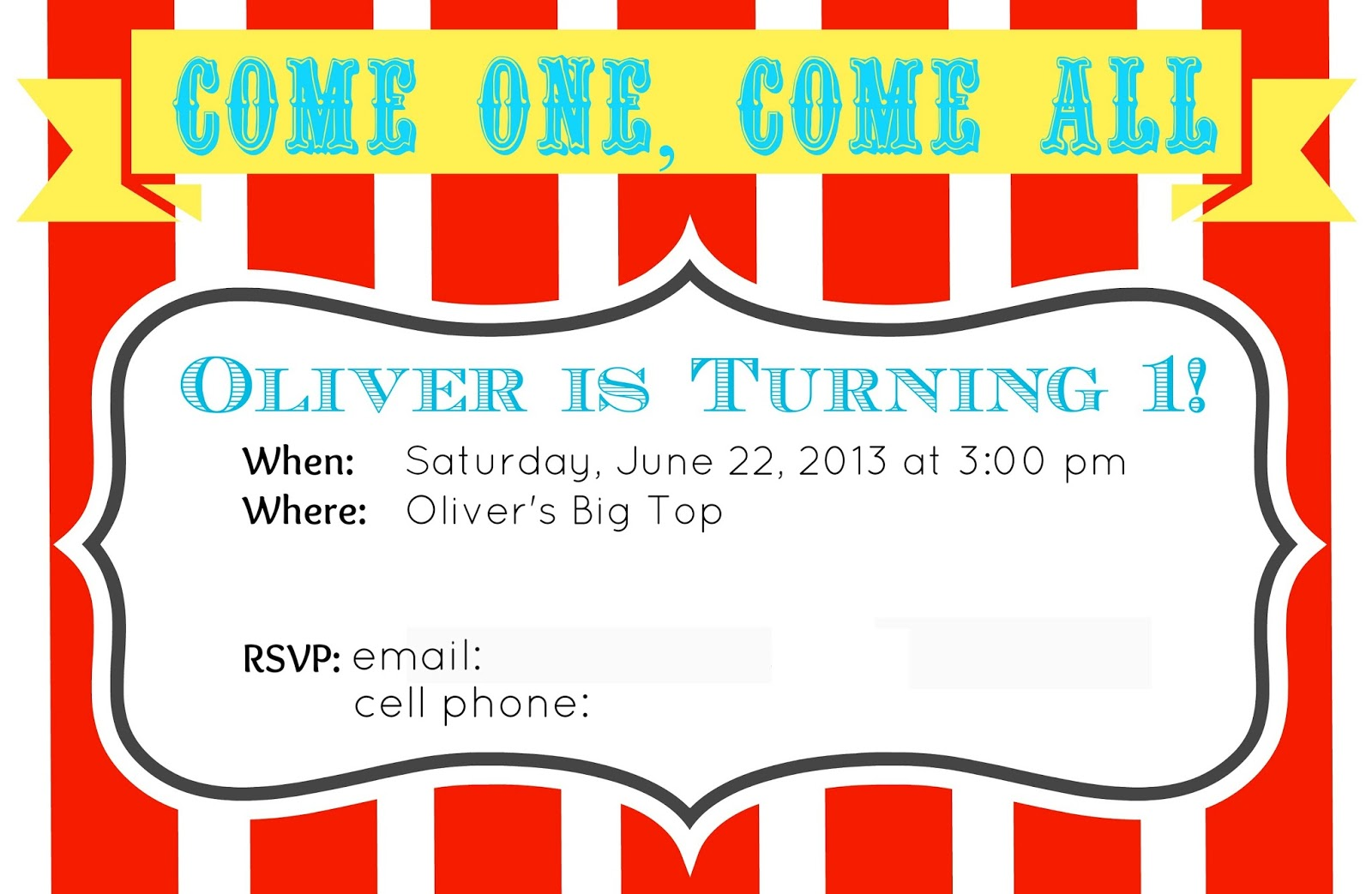 Oliveru0027s First Birthday Invitationu2013Free Printable  Free Printable Ticket Style Invitations