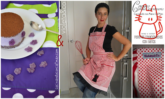 receta de pstel de chocolate y mousse de violeta