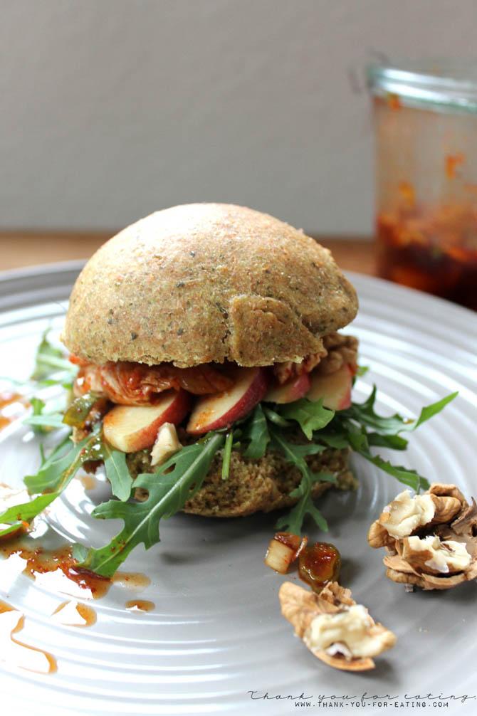 Kimchi Burger vegan