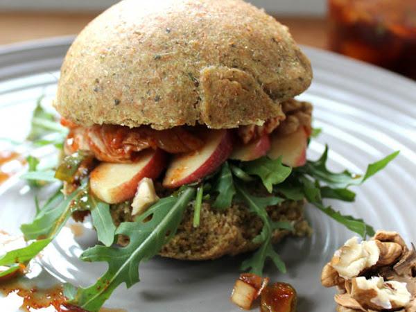 [Werbung] Kürbis-Kimchi-Walnuss-Burger für Casa Deli