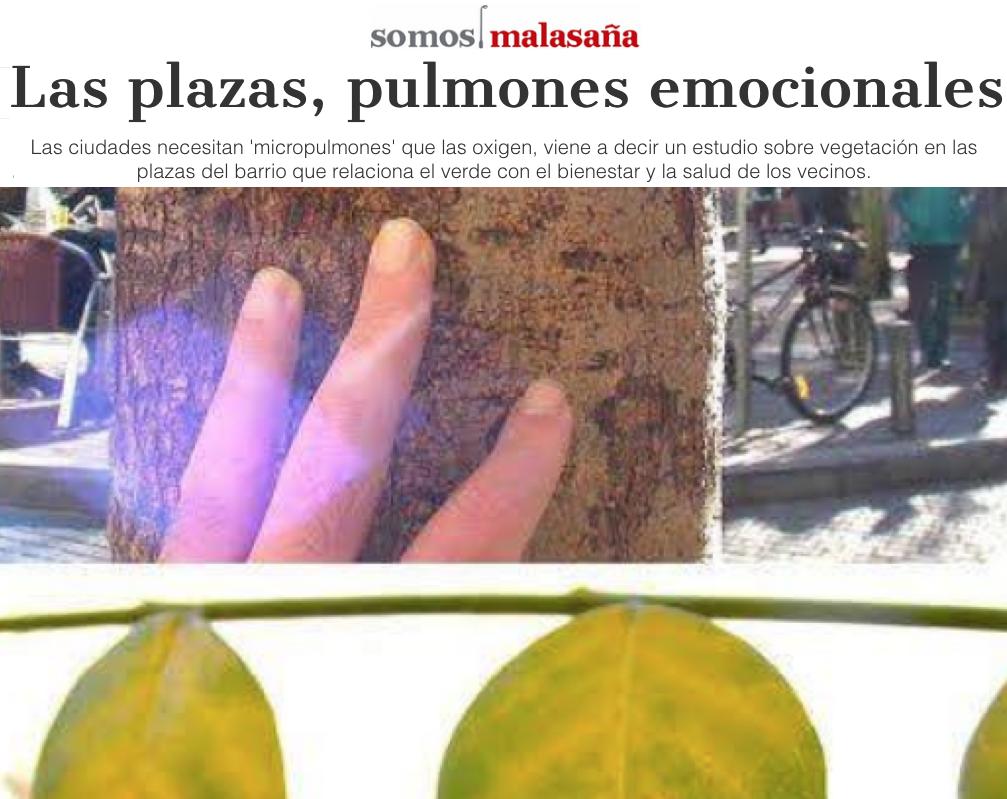 Las plazas, pulmones emocionales para la ciudadanía