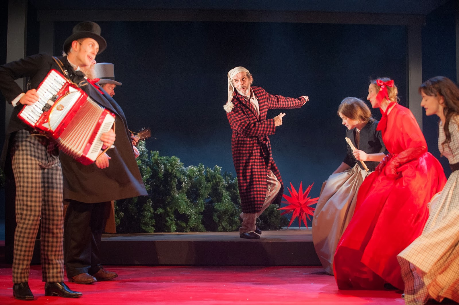 with its hard working cast outbreaks of yuletide song and line up of larger than life characters this staging of the dickens classic is as rich as - A Christmas Carol 2009 Cast