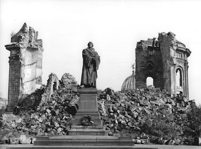 Frauenkirche tras el Bombardeo de Dresde