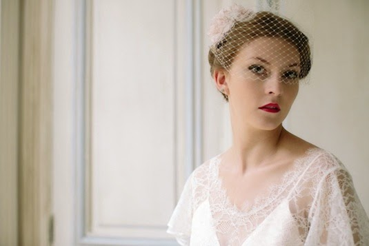 The first of my new range of veils for vintage wedding dresses - Heavenly Vintage Brides