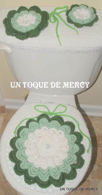 Accesorios De Baño A Crochet:UN TOQUE DE MERCY: SET PARA EL BANO DE CROCHET