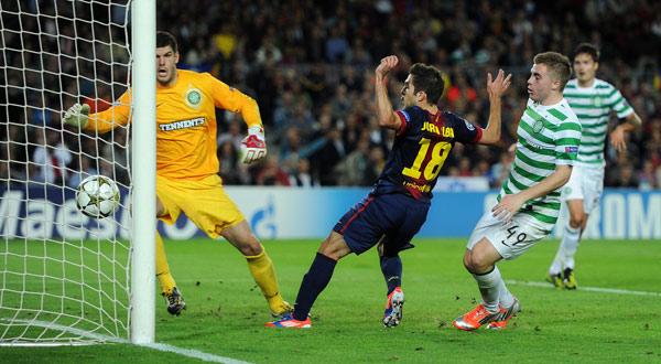 مشاهدة اهداف برشلونة وسيلتك 2/1 يوتيوب youtube سلتك الاربعاء 7/11/2012 بالامس يو تيوب