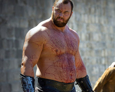 Hafpor Julius Bjornsson plays Gregor Clegane aka The Mountain on Game of Thrones
