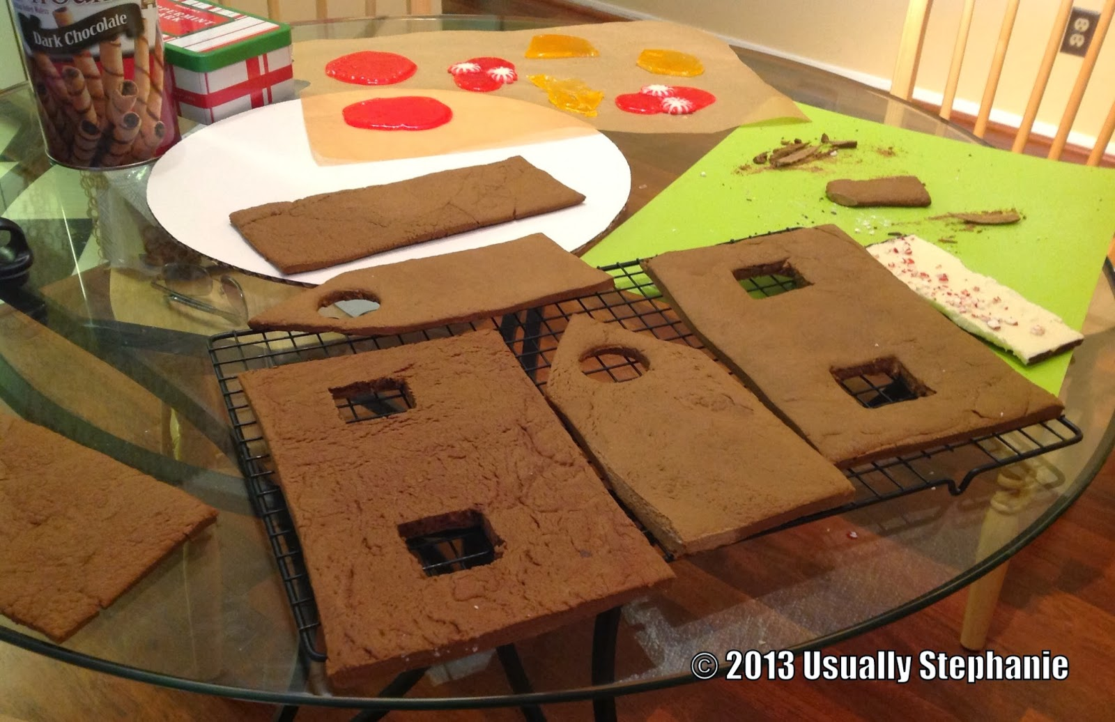 Gingerbread House With Porch Template I used templates from king