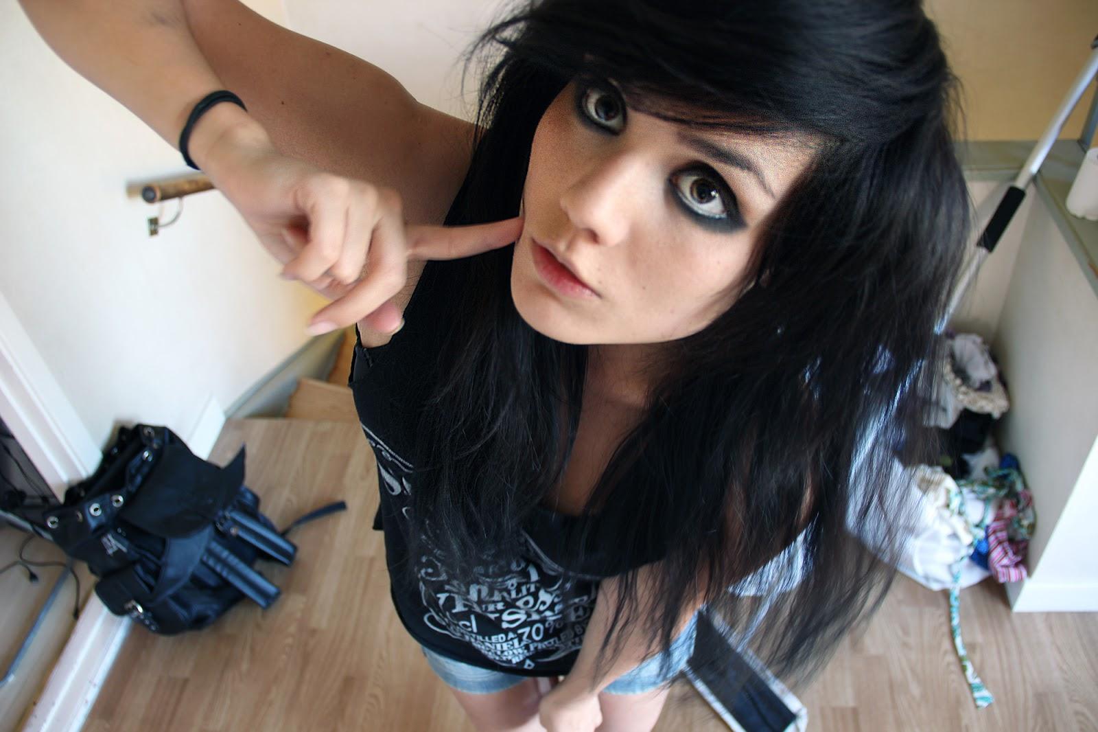 cute small emo scene girl