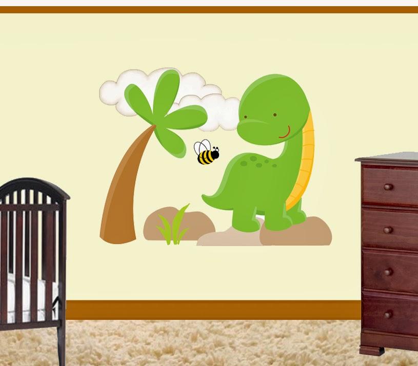 DeCamp Studios: Dinosaur Long Neck Wall Art Mural Decal Baby Boy ...