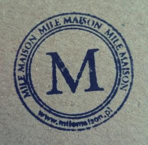 Okrągła pieczęć sklepu z dekoracjami do domu Mile Maison