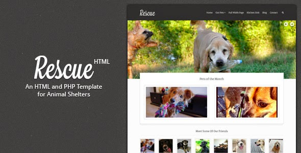 animal care website template