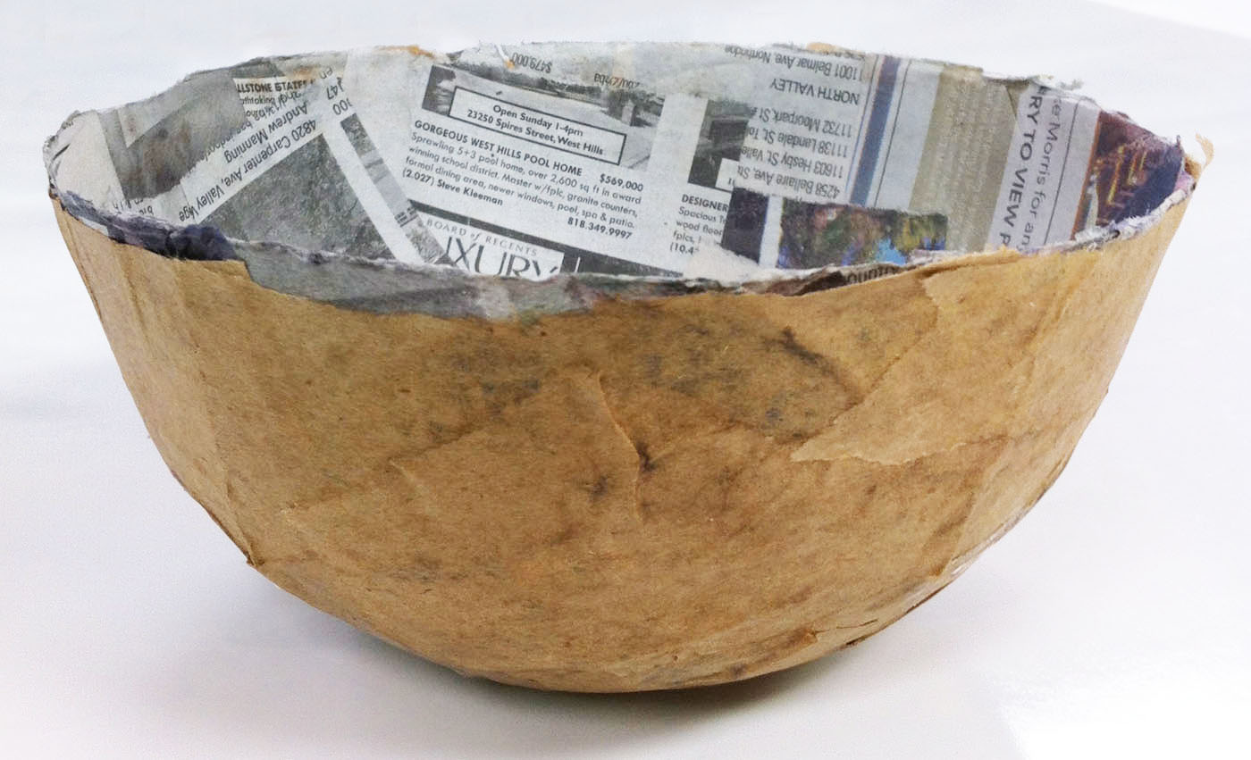 tissue paper bowls paper mache on pinterest