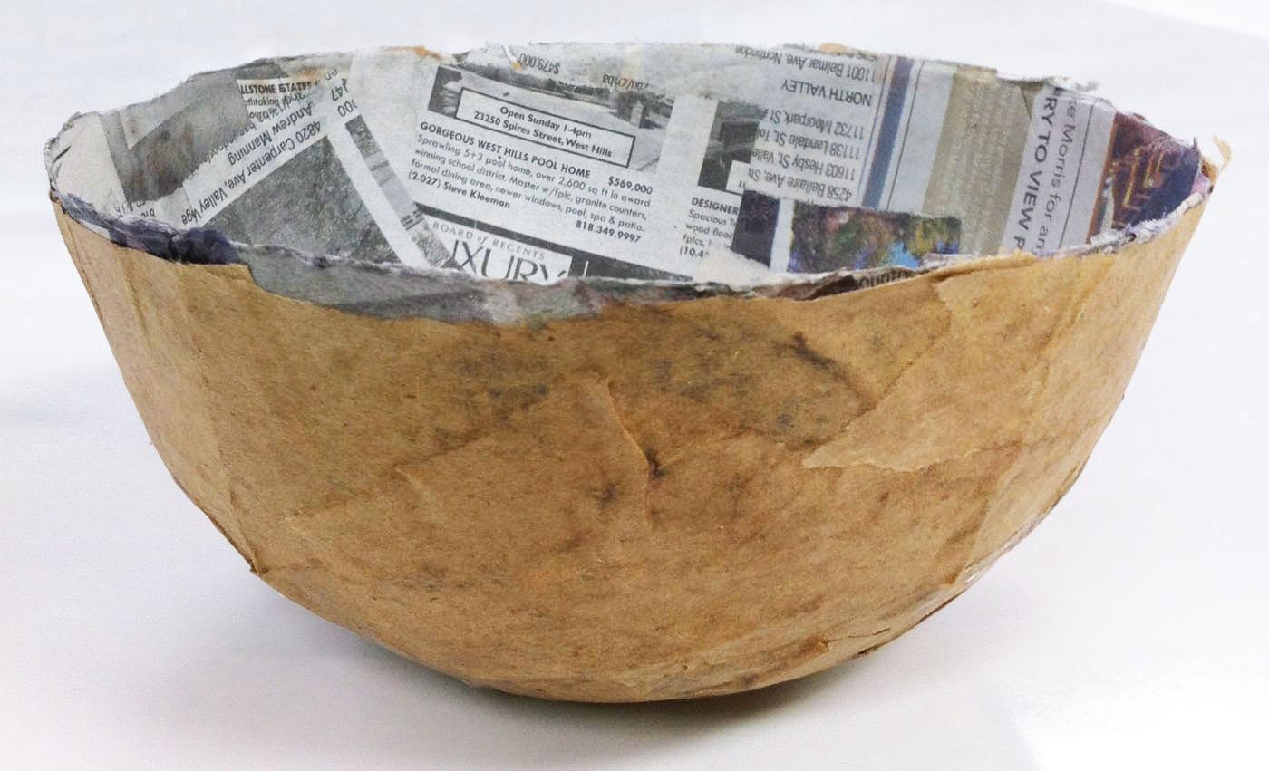 Tissue paper bowls paper mache on pinterest for Paper mache activities