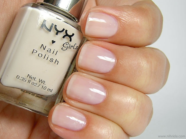 NYX Girls Nail Polish in Nude White