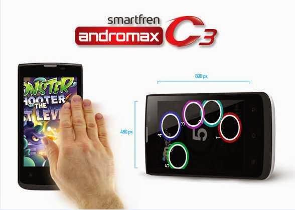 Review Smartfren Andromax C3 KitKat Murah Meriah