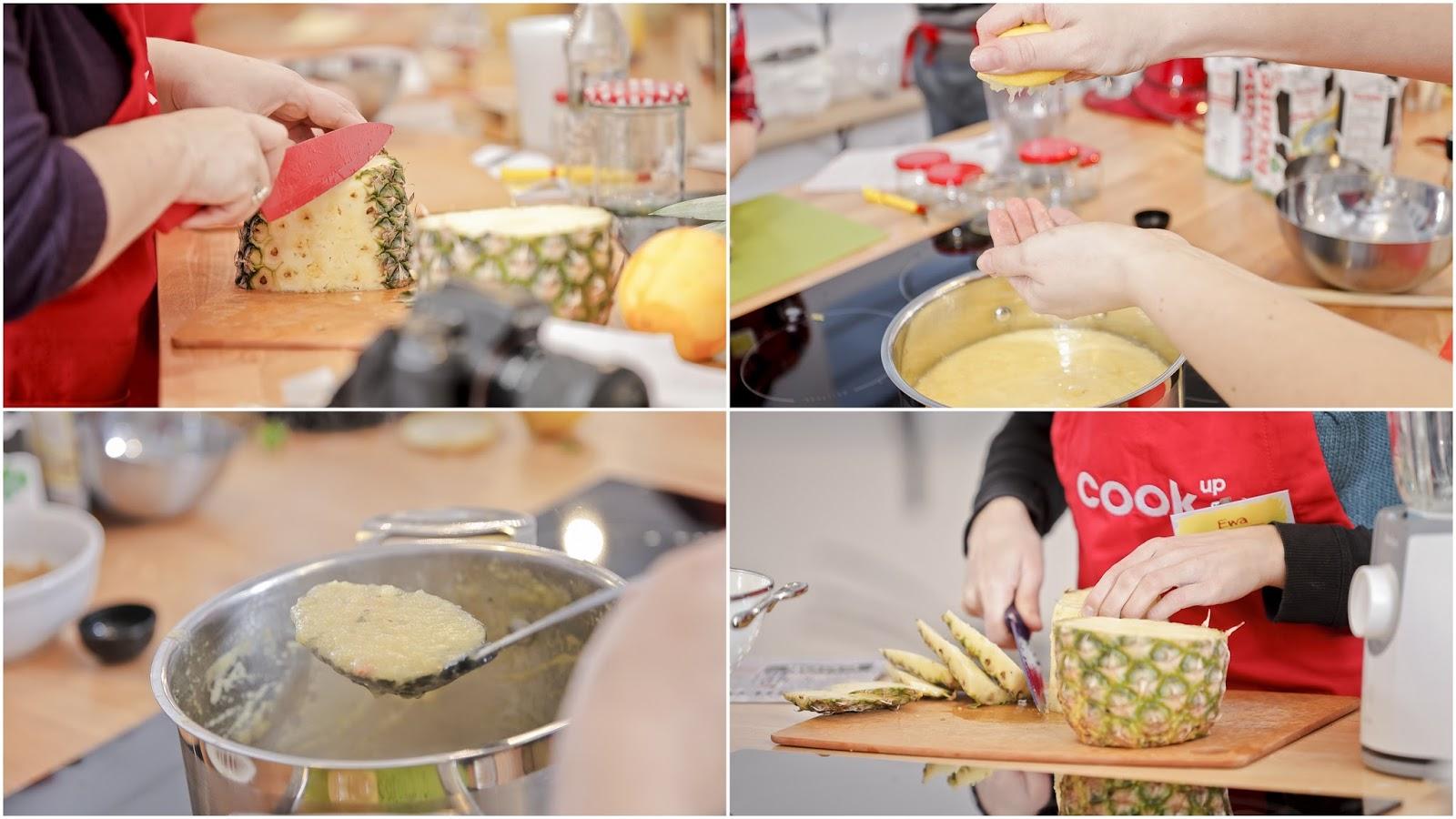 Ananasowy chutney z kolendrą, imbirem i trawą cytrynową