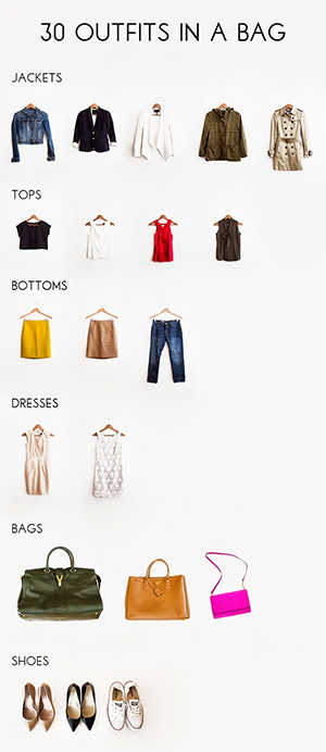 30 Outfits in a Bag