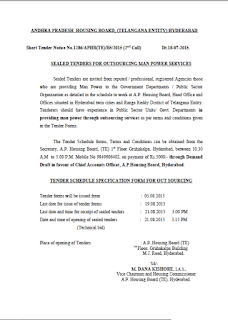 Sealed tenders outsourcing man power services-Short Notice No-1286 ...