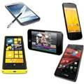 iPhone 5, Razr HD, Galaxy S4, Xperia ZQ, BlackBerry Z10, Optimus G, Lumia 920 e Nexus 4