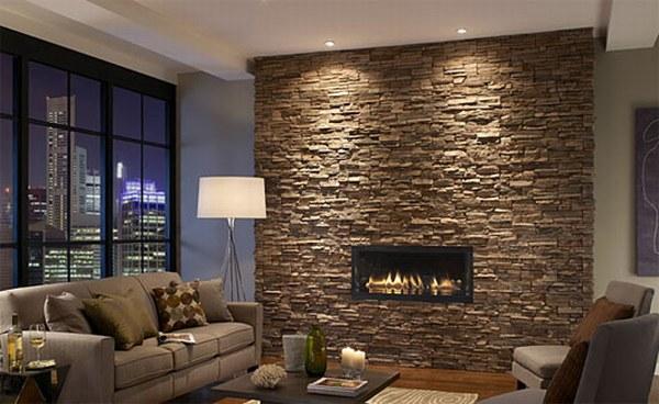 Suelos y paredes en piedra ideas para decorar dise ar y - Decorar paredes con piedra ...