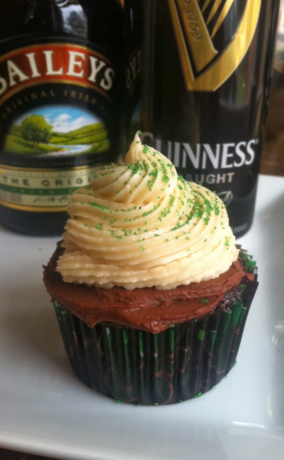 Irish Car Bomb Cupcake Recipe St. Patrick's Day