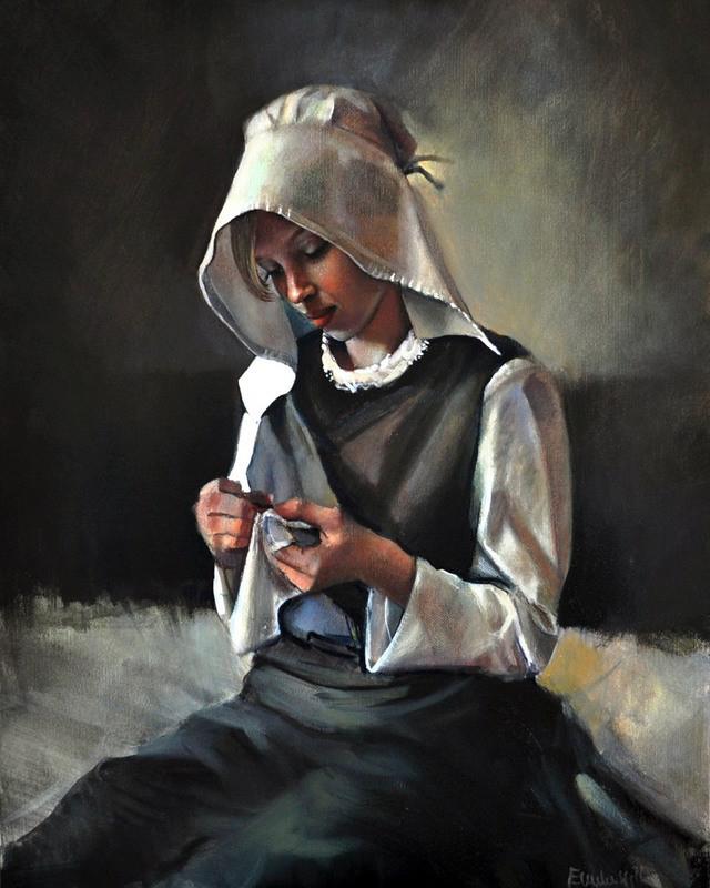 Emilii Wilk 1983   Polish Figurative painter