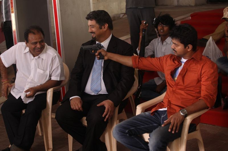 Puli Movie Shooting Spot Stills Movie Shooting Spot Stills