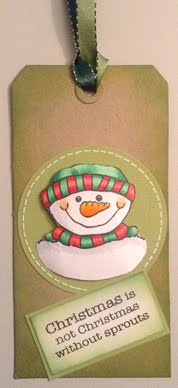 Woodware Snowman tag