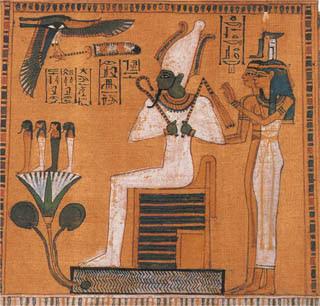 Osiris: el ser-divino-del-corazón-detenido. El rey puro, blanco perfecto, ingenuo y confiado.