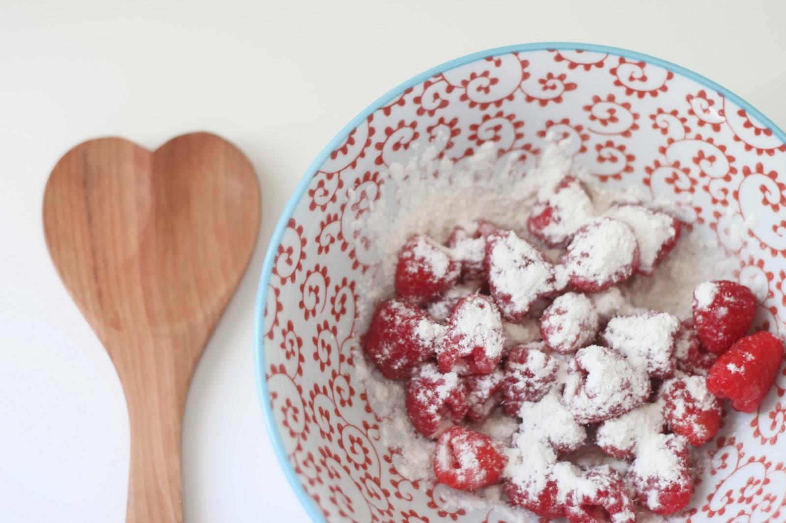 sugar-crusted raspberry muffins - Flora & Fauna