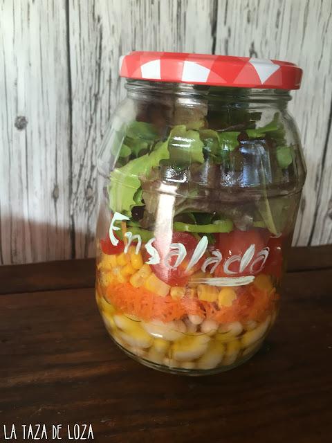 frasco de ensalada
