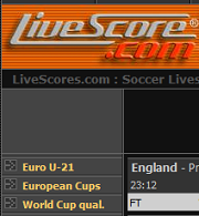 check soccer match updates from livescores.com