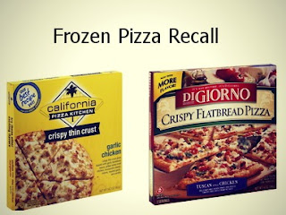 recall on frozen pizza, digiorno, california pizza kitchen