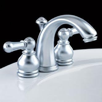 American Standard 7471.732 Hampton Minispread Bathroom Faucet With Metal Lever Handles