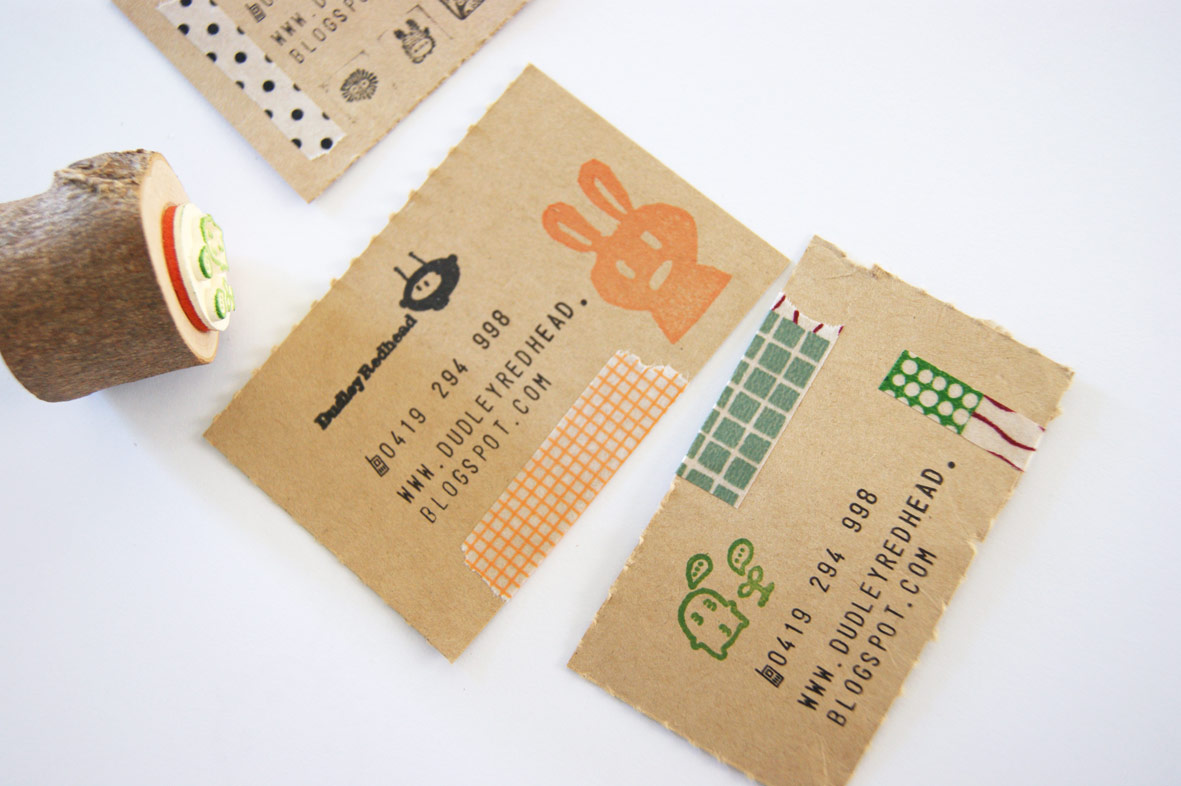 Dudley Redhead: DIY business cards...