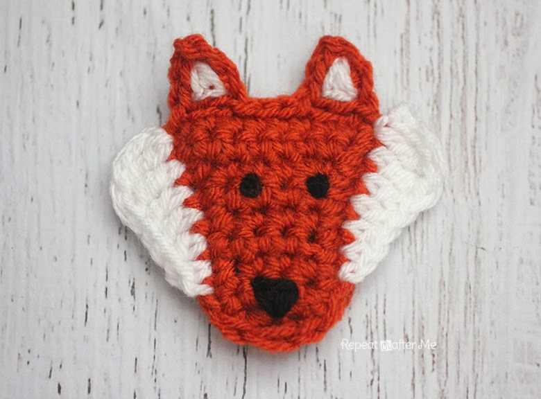 is for Fox: Crochet Fox Applique - Repeat Crafter Me