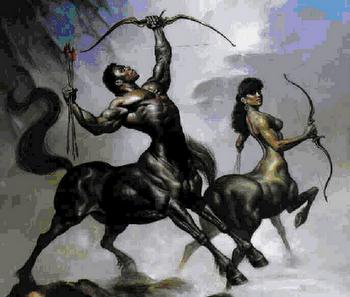 Sagitário, homem e animal