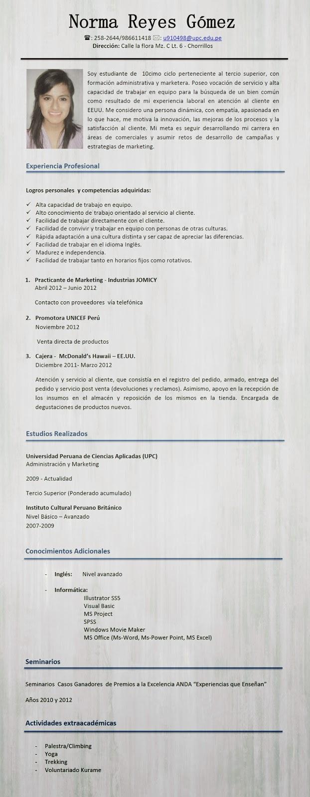 Desarrollo Personal: Curriculum Vitae [Orientado a mis competencias]