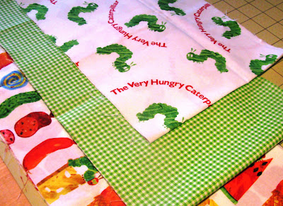 Eric Carle Hungry Caterpillar fabric