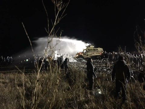 Hundreds of Water Protectors Injured, Shot with Water Cannons in Freezing Temperatures Sunday Night