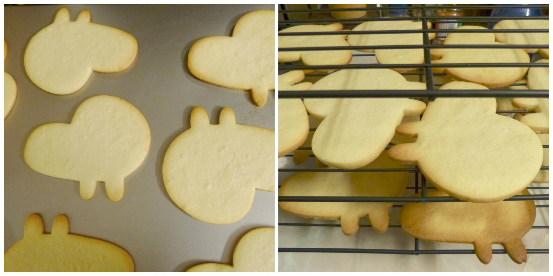 Hornear galletas y enfriar en  una rejilla
